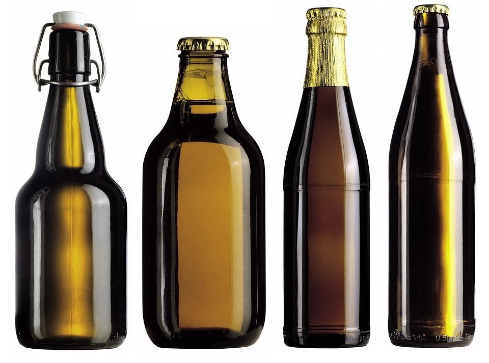Les bouteilles de bière